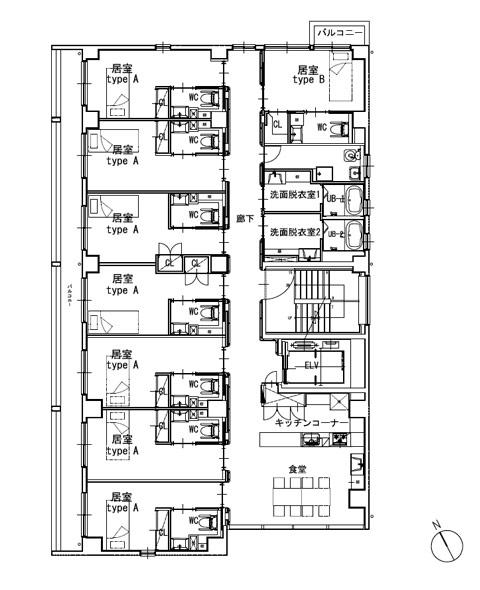 ホスピタウン「梅島」2階